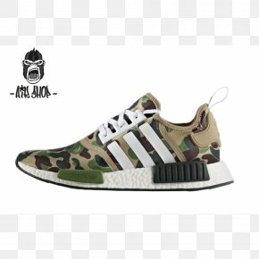 Adidas - Bape X NMD R1 Adidas Sneakers Shoe Boost PNG