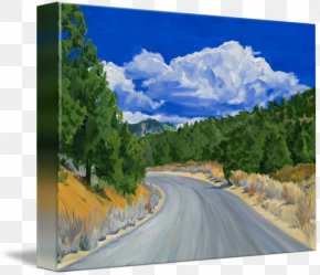 Painting - Mount Scenery Sequoia National Park Painting Sequoia National Forest Gallery Wrap PNG