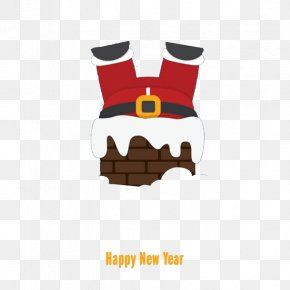Cartoon Santa Chimney Drill - Santa Claus Christmas Chimney PNG