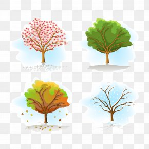 Vector Autumn Leaves - Season Tree Autumn Clip Art PNG