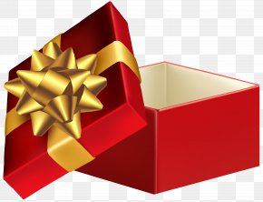 Red Open Gift Box Clip Art Image - Gift Box Christmas Day Clip Art PNG