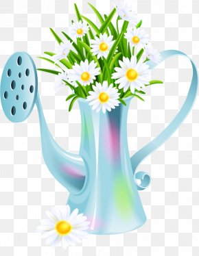 Flower Tools Cliparts - Flower Kettle Gardening Clip Art PNG