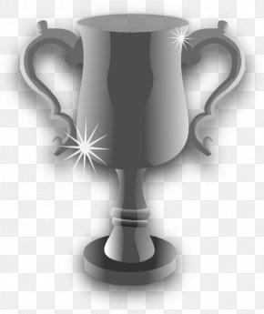 Trophy - Trophy Silver Medal Award Clip Art PNG
