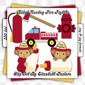 Baby Monkey Clipart - Firefighter Fire Hydrant Clip Art PNG