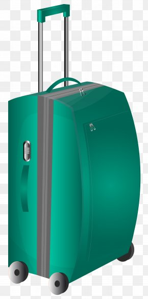 Green Trolley Travel Bag Clipart Image - Suitcase Travel Bag Clip Art PNG