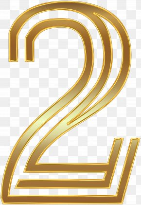 Number Two Gold Clip Art Image - Wedding Invitation Paper Clip Art PNG