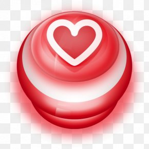 Button Red Love Heart - Heart Love Lip PNG