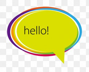 Hello Colorful Dialog - Dialogue Dialog Box Speech Balloon PNG