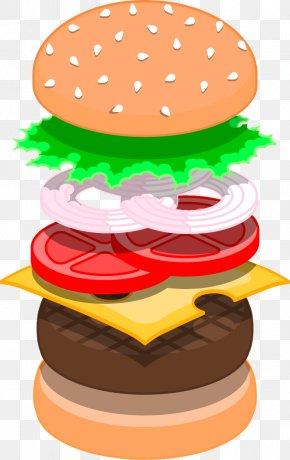 Vector Painted Burger Tomato Onion - Hamburger Steak Tartare Fast Food Chicken Sandwich Steak Burger PNG