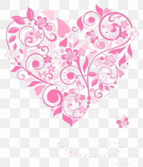 Transparent Pink Heart Decoration Picture - Heart Flower Euclidean Vector Pixabay PNG