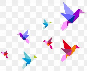 Birds Flying Picture - Origami Royalty-free Illustration PNG
