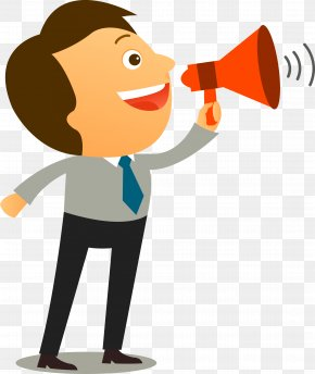 Take Megaphone Man - Assertiveness Communication Coaching Interpersonal Relationship Behavior PNG