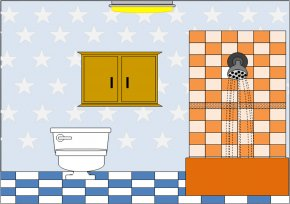 Bathroom Background Cliparts - Bathroom Public Toilet Clip Art PNG