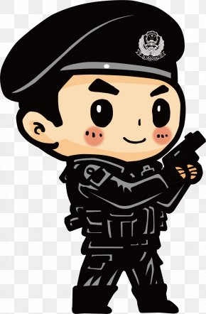 Home Alarm - Police Officer Cartoon Avatar PNG