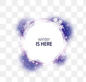 Vector Fantasy Snow Decoration Round - Winter Snowflake PNG