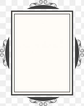 Vector Creative Design Diagram Quadrangular Mirror Frame - Black And White Mirror PNG