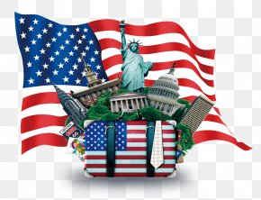 Building American Flag Logo Bags - Flag Of The United States Clip Art PNG