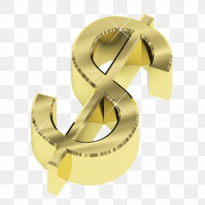 Textured Gold Dollar Sign - Money Dollar Sign Currency Symbol Wealth PNG