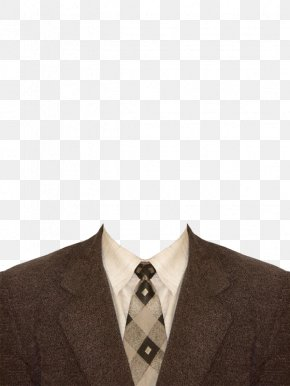 Flower Brown Suit And Tie - Suit Template Shirt PNG