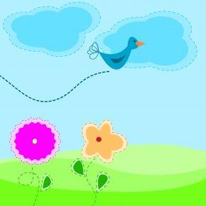 Cartoon Spring Flowers - Cartoon Spring Clip Art PNG
