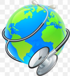 World Heath Day - Vector Graphics Earth World Illustration Stethoscope PNG
