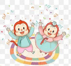 Cartoon Monkey Material - Monkey Illustration PNG