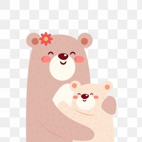 Vector Bear Mother And Son - Polar Bear Download Brown Bear Icon PNG