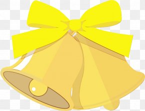 Wheel Bell - Yellow Ribbon Bell Wheel PNG