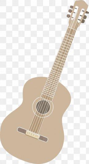 Folk Guitar Vector - Acoustic Guitar Ukulele Tiple Cuatro Electric Guitar PNG