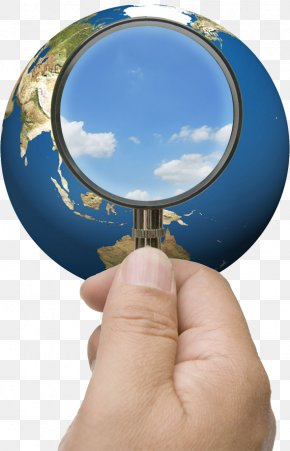 Hold The Magnifying Glass - Earth Magnifying Glass PNG