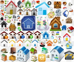 Various Home House Icon - Home Page Icon PNG
