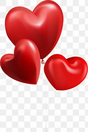 Red Love Decoration Pattern - Valentine's Day Heart Balloon Illustration PNG