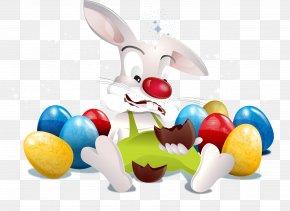Vector Easter Illustration - Easter Bunny Easter Egg Rabbit PNG