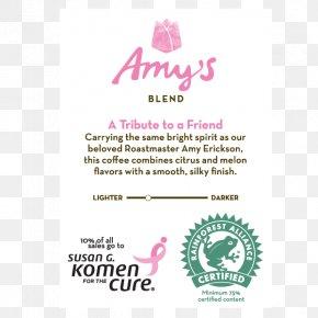 Susan G. Komen For The Cure - Green Tea Hot Chocolate Logo Brand PNG