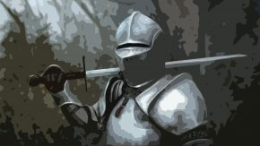 Armour - Late Middle Ages Knight Plate Armour Medieval Warfare PNG