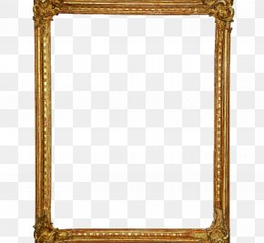 Mirror - Picture Frames Mirror Glass Gold PNG