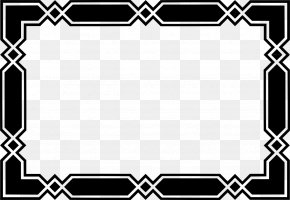 Decorative Border - Black And White Board Game Pattern PNG