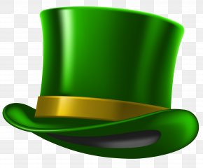 Green St Patricks Day Hat Clipart Image PNG