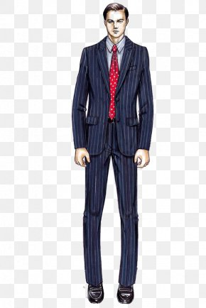 Striped Suit - Wall Street Costume Designer Armani Suit PNG