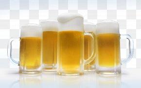 Beer Glasses - Beer Glassware Lager Cask Ale Alcoholic Drink PNG