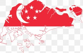 SINGAPORE - Flag Of Singapore Map National Flag PNG