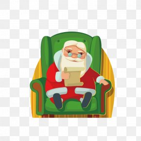 Messy Christmas - Santa Claus Christmas Day Vector Graphics Illustration Christmas Elf PNG