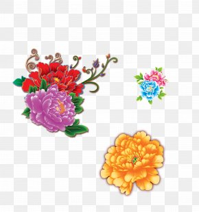 Peony - Moutan Peony Floral Design National Day Of The Peoples Republic Of China PNG