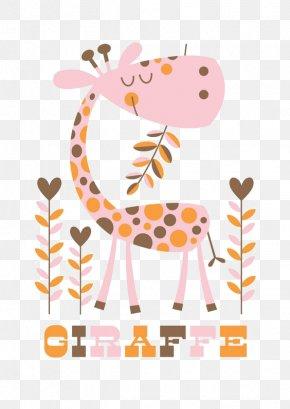 Pink Giraffe - Paper Northern Giraffe Leopard Calf Elephant PNG