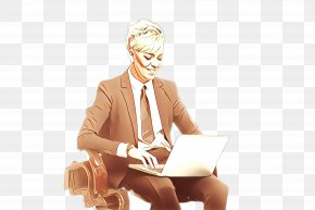 Whitecollar Worker Businessperson - Sitting Businessperson White-collar Worker PNG