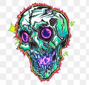 Artwork - Skull Psychedelic Art Psychedelic Drug PNG