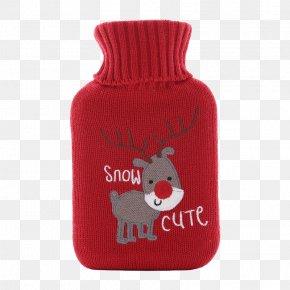 Red Jacket Hot Water Bottle - Hot Water Bottle Heat Bag Natural Rubber PNG