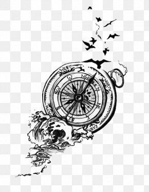 Compass - Bird Tattoo Artist Compass Idea PNG