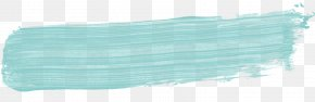 Brush Stroke - Brush Turquoise Color Teal Paint PNG