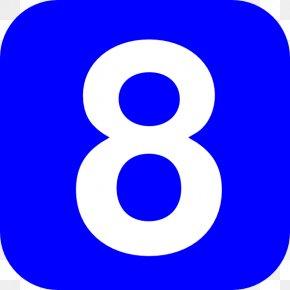 Number 8 - Number Clip Art PNG